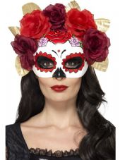 Day Of The Dead Eye Mask Red